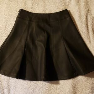 Faux leather size 2 express skirt